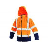 Pánská reflexní bunda DERBY, oranžovo-modrá