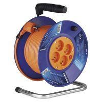 EMOS PVC prodlužovací kabel na bubnu  4 zásuvky, 20m, 1mm2 P19420