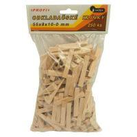 Klínky dřevěné, obkladačské, balení 250 ks, 55 x 8 x 10  0 mm